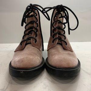 Dolce Vita Rose Bardot Lace-Up Velvet Boot Size 6